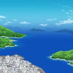 海辺の町イラスト無料素材1
