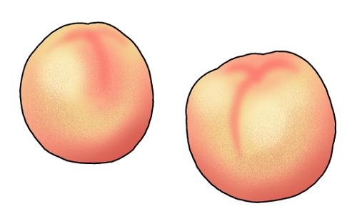 桃のイラスト無料素材