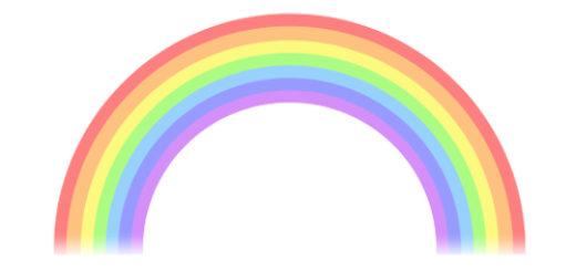 虹のイラスト無料素材