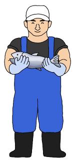 漁師のイラスト無料素材