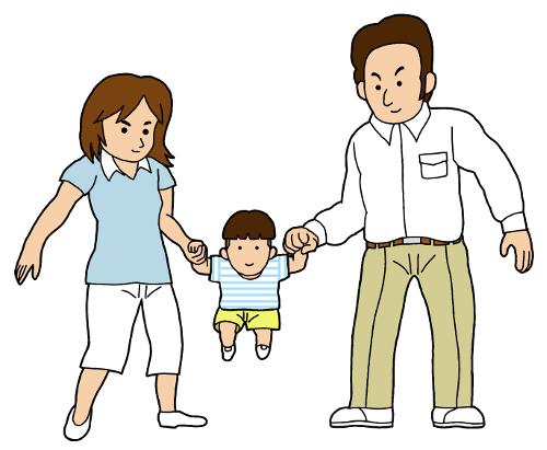 親子のイラスト無料素材
